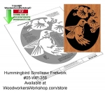 05-WP-358 - Hummingbird Downloadable Scrollsaw Woodcrafting Pattern PDF