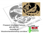 fee plans woodworking resource from WoodworkersWorkshop® Online Store - pheasants,stencils,templates,scrap wood projects,downloadable PDF,tole painting wood crafts,scrollsawing patterns,4-H Club,4H projects,scouts,girl guides,drawings,Accents In Pine,woodworking plans,woo