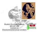Bluebird Downloadable Scrollsaw Woodcrafting Pattern