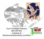 05-WP-365 - Duck Ascending Downloadable Scrollsaw Woodcrafting Pattern PDF