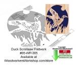 Duck Ascending Downloadable Scrollsaw Woodcrafting Pattern