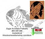 fee plans woodworking resource from WoodworkersWorkshop® Online Store - eagles,animals,wildlife,birds,stencils,templates,scrap wood projects,downloadable PDF,tole painting wood crafts,scrollsawing patterns,4-H Club,4H projects,scouts,girl guides,drawings,Accents In Pine,w