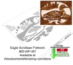 fee plans woodworking resource from WoodworkersWorkshop® Online Store - loons,animals,wildlife,birds,stencils,templates,scrap wood projects,downloadable PDF,tole painting wood crafts,scrollsawing patterns,4-H Club,4H projects,scouts,girl guides,drawings,Accents In Pine,wo