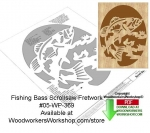 Fishing Bass Downloadable Scrollsaw Woodcrafting Pattern