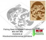 Fishing Bass Downloadable Scrollsaw Woodcrafting Pattern