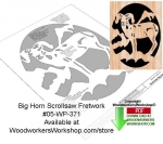 fee plans woodworking resource from WoodworkersWorkshop® Online Store - big horn sheep,wildlife,stencils,templates,scrap wood projects,downloadable PDF,tole painting wood crafts,scrollsawing patterns,4-H Club,4H projects,scouts,girl guides,drawings,Accents In Pine,woodwor