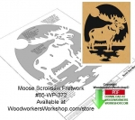 fee plans woodworking resource from WoodworkersWorkshop® Online Store - moose,wildlife,stencils,templates,scrap wood projects,downloadable PDF,tole painting wood crafts,scrollsawing patterns,4-H Club,4H projects,scouts,girl guides,drawings,Accents In Pine,woodworking plan