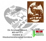 05-WP-373 - Elk Downloadable Scrollsaw Woodcrafting Pattern PDF