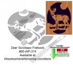 05-WP-374 - Deer Downloadable Scrollsaw Woodcrafting Pattern PDF