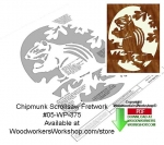 Chipmunk Downloadable Scrollsaw Woodcrafting Pattern