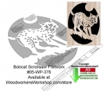 fee plans woodworking resource from WoodworkersWorkshop® Online Store - bobcats,ferrel,animals,wildlife,stencils,templates,scrap wood projects,downloadable PDF,tole painting wood crafts,scrollsawing patterns,4-H Club,4H projects,scouts,girl guides,drawings,Accents In Pine