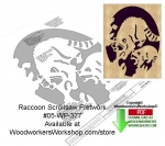 05-WP-377 - Raccoon Downloadable Scrollsaw Woodcrafting Pattern PDF