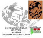 05-WP-378 - Squirrel Downloadable Scrollsaw Woodcrafting Pattern PDF