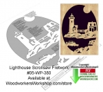 Lighthouse Downloadable Scrollsaw Woodcrafting Pattern