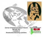German Shepherd Downloadable Scrollsaw Woodcrafting Pattern