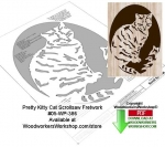 05-WP-386 - Pretty Kitty Downloadable Scrollsaw Woodcrafting Pattern PDF