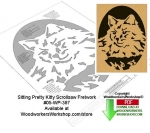 Sitting Pretty Kitty Downloadable Scrollsaw Woodcrafting Pattern