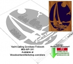 05-WP-391 - Yacht Sailing Downloadable Scrollsaw Woodcrafting Pattern PDF