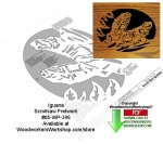 fee plans woodworking resource from WoodworkersWorkshop� Online Store - iguana,lizards,stencils,templates,scrap wood projects,downloadable PDF,tole painting wood crafts,scrollsawing patterns,4-H Club,4H projects,scouts,girl guides,drawings,Accents In Pine,woodworking plan