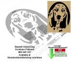 Bassett Hound Downloadable Scrollsaw Woodcrafting Pattern
