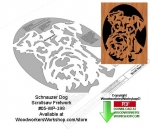 fee plans woodworking resource from WoodworkersWorkshop� Online Store - schnauzer,dogs,pets,animals,stencils,templates,scrap wood projects,downloadable PDF,tole painting wood crafts,scrollsawing patterns,4-H Club,4H projects,scouts,girl guides,drawings,Accents In Pine,woo