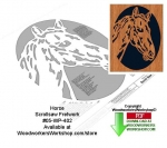 Horse Downloadable Scrollsaw Woodcrafting Pattern