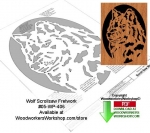 Wolf Downloadable Scrollsaw Woodcrafting Pattern