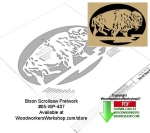 Bison Downloadable Scrollsaw Woodcrafting Pattern