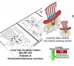 Uncle Sam Downloadable Scrollsaw Woodcrafting Pattern PDF, uncle sam,patriotic,stars and stripes,united states,usa,,stencils,templates,scrap wood projects,downloadable PDF,tole painting wood crafts,scrollsawing patterns,4-H Club,4H projects,scouts,girl guides