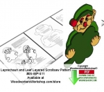 fee plans woodworking resource from WoodworkersWorkshop® Online Store - st patricks day,leprechauns,luck clover leaf,layered,stencils,templates,scrap wood projects,downloadable PDF,tole painting wood crafts,scrollsawing patterns,4-H Club,4H projects,scouts,girl guides,dra