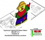 05-WP-413 - Scarecrow Downloadable Scrollsaw Woodcrafting Pattern PDF
