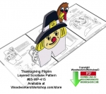fee plans woodworking resource from WoodworkersWorkshop® Online Store - pilgrims,turkeys,Thanksgiving,layered,stencils,templates,scrap wood projects,downloadable PDF,tole painting wood crafts,scrollsawing patterns,4-H Club,4H projects,scouts,girl guides,drawings,Accents I