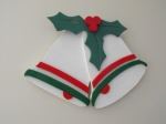 Christmas Holly and Bells Downloadable Scrollsaw Woodworking Plan