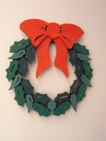 Christmas Wreath Downloadable Scrollsaw Woodworking Plan