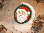 Ornament Stands with FREE Santa Ornament Downloadable Scrollsaw