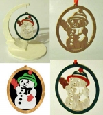 Snowman Downloadable Scrollsaw Woodworking Plan PDF, Christmas,snowman,ornaments,scrap wood projects,downloadable PDF,tole painting wood crafts,scrollsawing patterns,4-H Club,4H projects,scouts,girl guides,drawings,Accents In Pine,woodworking plans,wood