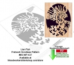 Lion Fish Downloadable Scrollsaw Woodcrafting Pattern