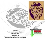 Leopard Downloadable Scrollsaw Woodcrafting Pattern