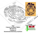 Tiger Downloadable Scrollsaw Woodcrafting Pattern