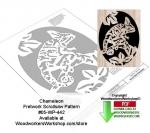 Chameleon Downloadable Scrollsaw Woodcrafting Pattern