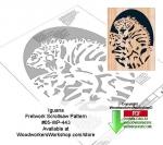 Iguana Scrollsaw Woodcrafting Pattern Downlaodable