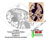 fee plans woodworking resource from WoodworkersWorkshop® Online Store - cockatiel,birds,wildlife,stencils,templates,scrap wood projects,downloadable PDF,tole painting wood crafts,scrollsawing patterns,4-H Club,4H projects,scouts,girl guides,drawings,Accents In Pine,woodwo