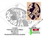 Cockatiel Downloadable Scrollsaw Woodworking Pattern
