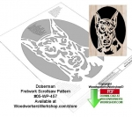 fee plans woodworking resource from WoodworkersWorkshop® Online Store - Doberman,dogs,pets,animals,stencils,templates,scrap wood projects,downloadable PDF,tole painting wood crafts,scrollsawing patterns,4-H Club,4H projects,scouts,girl guides,drawings,Accents In Pine,wood