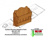 05-WP-460 - Wall Mount Rack Downloadable Scrollsaw Woodcrafting Pattern PDF