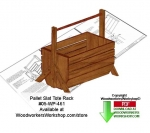 Pallet Slat Tote Rack Downloadable Scrollsaw Woodcrafting Pattern
