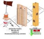 05-WP-463 - 4 Simple Bird Feeder Downloadable Woodcrafting Pattern PDF