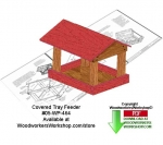 Covered Tray Bird Feeder Downloadable Woodcrafting Pattern