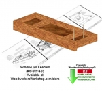 Window Tray Bird Feeder Downloadable Woodcrafting Pattern