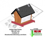 Hopper Bird Feeder Downloadable Woodcrafting Pattern